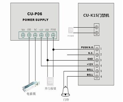 CU-K15门禁机接线图